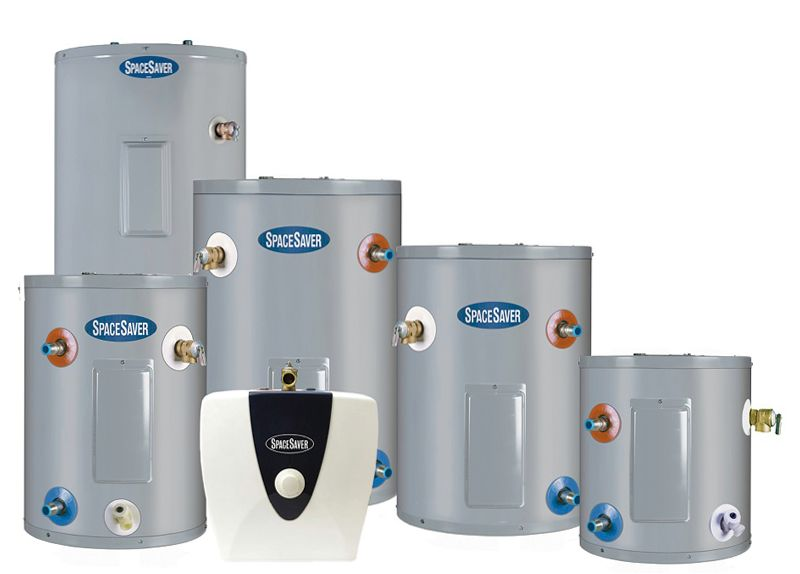 water heating unit sizes